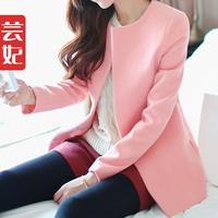 Woolen outerwear female 2013 autumn and winter woolen top macaron wool coat women's
