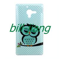Cartoon Cute shy Owl Bird soft tpu case for Sony Xperia ZL l35h  Xperia ZQ C6502 C6503 C6506  1pc  by china post