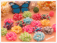 30pcs 8 Color 2inch baby shabby chiffon flower for baby hair accessories for Hair Elastic Headband