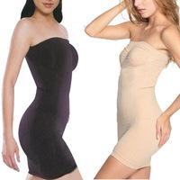 S/M/L/XL/XXL/XXXL Women Adjustable underwear Sexy Slimming boob tube top Dress For Bride Boby Shaper dress 3Color  SM02