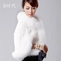 Ladies high leather jacket grass, rabbit fur coat, fur coats, faux fur vest, fur coat, fox, women coats winter fashion 2013