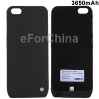 3650mAh Ultra Slim Case Backup Power External Battery / Power Bank for iPhone 5 (Black)