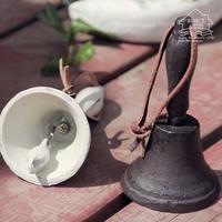 Zakka vintage rattles, handbell props doorbell
