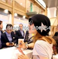 Hot Selling!!!1pcs Korean hot winter version of the pentagram hat set of ms head cap hip-hop cap male couples hat