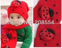 8pcs/lot  Cute!!! baby hat&scraft baby cap infant cap Cotton Cap&scraft Toddler Boys & Girls Hats D06