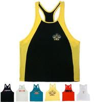 E0490 Men's Muscle Tank Tops for Fitness & Bodybuilding 100% Cotton Men Professional Workouts Sports Vest