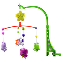 Newborn baby toy 0-1 year old rattles, bed bell music baby bed hanging rotating bedside bell wind chimes