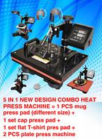 5 IN 1 Sublimation machine 110V/220V heat printing, mini digital combo Heat Press Machine