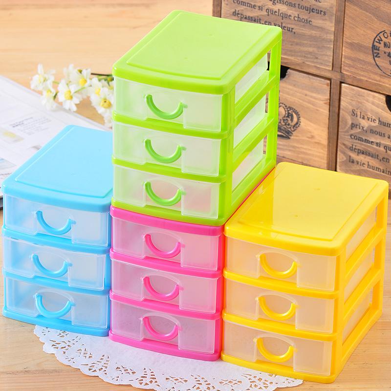 Mini plastic multi-layer drawer storage box storage box finishing cabinet desktop storage cabinet(China (Mainland))