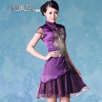 2013 design short dress cheongsam repair cheongsam dress vintage lace one-piece dress