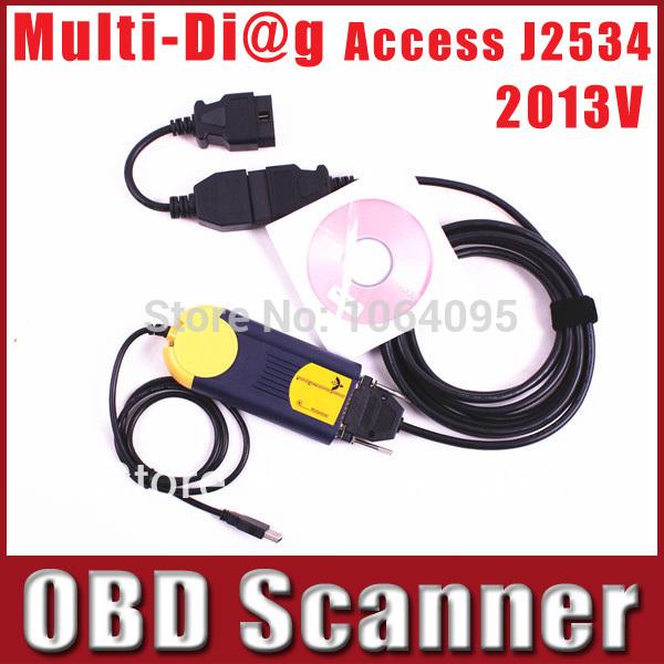 Multi-Di@g Access J2534 Pass-Thru OBD2 Device V2013 Multidiag Access j2534 Diagnostic Tool Actia Multi Diag Multi-Diag DHL(China (Mainland))