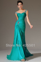 2 Piece Bandage Mermaid Dress Floor Length Beaded Formal Evening Gowns Long Dress Party Evening 2014