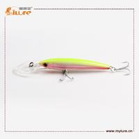 I lure 3D Eyes Big  Minnow Sinking Fishing baits 43g 185mm