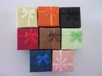 48pcs/lot 4x 4  ring box ,small jewelry gift box, bow decoration  jewelry box  free shipping 24pcs/color