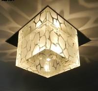 Modern led 3w crystal aisle lights stainless corridor lights lamp for home decoration AC85-265V led living room ceiling light