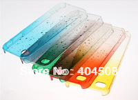 New Drop Water Transparent hard back cover Dripping clear crystal for iPhone 4 4S 5 5S ultrathin cell phone case 10pcs/lot