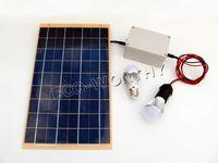 10W solar panel&3W led bulb Outdoor living solar power battery pack kit 3 in 1 w