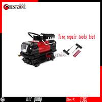 Single-cylinder 12v car electric car tire inflator pump a pump,Electric Pump Air Compressor Tire Inflator+Tire repair tools1set