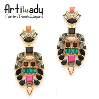 Artilady Bohemia antic gold dangle earring punk design earrings women jewelry