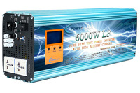 6000W PURE SINE WAVE POWER INVERTER DC 24V TO AC 110V 60Hz / 100A BATTERY CHARGER/ LCD METER/ UPS/ Converter Adapter Adaptor