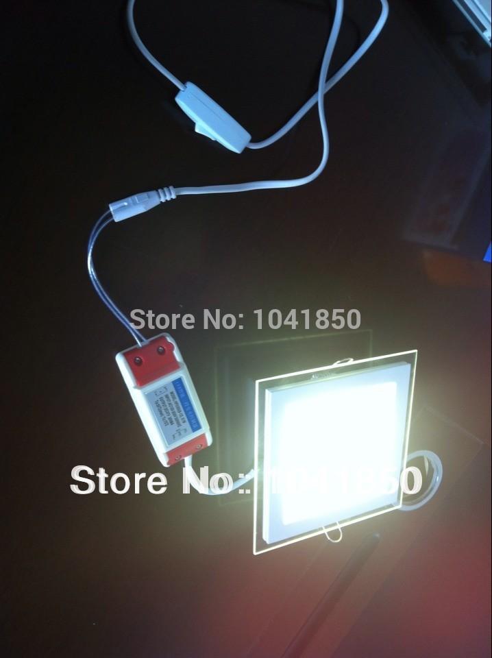 Versandkostenfrei newestone lampe haben drei farbe! 20pic/lot 12w glas platz led-licht smd5730 24 stück, 85-265w led-deckenleuchte