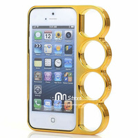 4 Colors 2014 New 1PCS Fashion Luxury The Knuckle Dusters Case For iPhone 5s High Quality Plasitc Case For iPhone 5 Free Ship