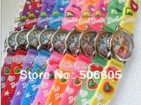 10pcs/lot Wholesale NEW Cartoon 3D princess  Wrist watch kids children cartoon quartz watches christmas gift
