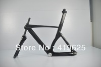 2014 NEWEST fixed gear frame 700C 100% full carbon fiber bike frame,track and fixed gear glossy finish stock free shipping