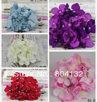 "NEW 24Pcs Dia 15cm/5.91"" Artificial Silk Flowers Simulation Hydrangea Flower Head for DIY Bride Bridesmaids Wrist Flower"