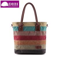 new arrival canvas bag women's handbag 2014 messenger bag shoulder bag #3074