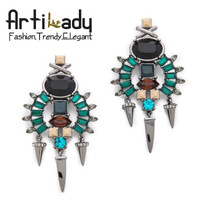 Artilady punk drop design dangle earring punk women jewelry