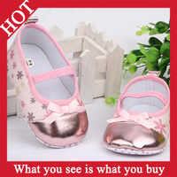 6pairs 2014 Hot Selling Size3,4,5 Flower Design Baby Shoe Floral Children First Walkers Shoes Kids Sapatos--ZYA142 Free Shipping