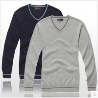 Thin Autumn Spring Men Long Sleeve Casual Fashion 100 Cotton Sweaters New Fashion Gray Size S M L A0371