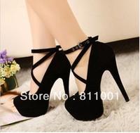 Sexy Black 14cm Super High Heel Pumps  wedding payty lady platform red bottom ultra high heels women pumps and women's shoes
