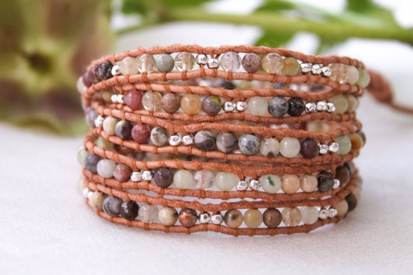 Sterling SIlver Plate and Mixed Semi Precious Stone Wrap(China (Mainland))