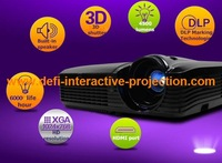 best price 4000 Lumens 3D DLP  Projector from China home theater
