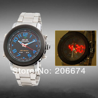 NEW WH-1105  Men's Analog & LED Digital Display 30m Waterproof Sports Watch(Silver)+free shipping