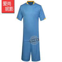 new Man paintless soccer jersey set short-sleeve clothing competition training service football clothing printing