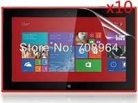 10xNew LCD Clear Screen Protector Film Films Guards For Nokia Lumia 2520 10.1 inch Tablet PC,Free shipping