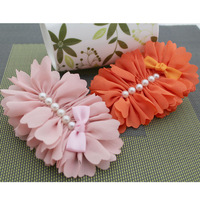 Hot Sale Fabric Flowers Headband For Infant Babys Girls Kids Children women's Hair Accessories Baby Christmas Gift 9color