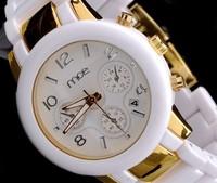 MCE Original 100% Brand Copy Ceramic watch Japan Movement Watches Analog Silicone watches Dropship Quartz watch