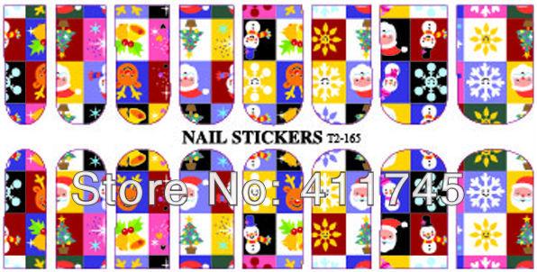 FREE SHIPPING 10 sheets/lot Best selling!!T2-165 designs water decals DIY nail art sticker, Nail art use(China (Mainland))