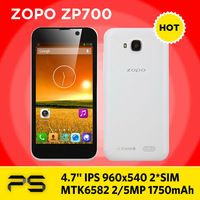 "4.7"" ZOPO ZP700 1G RAM 4G ROM 5.0/8.0MP 1750mAh Android 4.2 MTK6582 Quad Core 3G GPS BT smart phone"