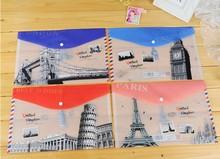 NEW Vintage Scenic world Multifunction A4 File bag/Document bag / file folder /Wholesale(China (Mainland))