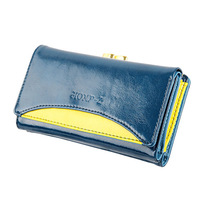 New Special Retro Practical Oil Waxing PU Leather Wallet Thickening vintage women Card Clutch Purse Money Clip