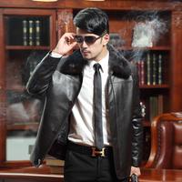 2013 liner mink leather clothing men's clothing genuine leather sheepskin fur coat