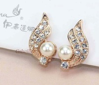 Free Shipping Italina Rigant Fashion Novelty Jewelry Wholesale 18k Gold Plated No pierced Clip   Earrings For Women gift