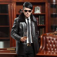 2013 mink liner fur collar male genuine leather sheepskin fur clothing coat nick coat