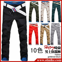 [Special offer] Free shipping!Men casual pants Korean Straight cotton Trousers / Mens Leisure pants size 28-36 / 11 colors D083