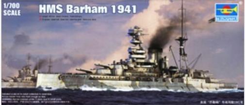 Trumpeter 05798 1/700 HMS Barham 1941 Plastic Model Kit(China (Mainland))